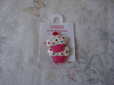 NWT GYMBOREE GIRLS CUPCAKE HAIR  2PC CLIP  2 3 4 5 6