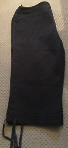 Ladies Bon Marche Long Black Shorts With Leg Ties Size 18 Cotton/Elastane