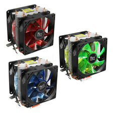 LED Dual Fan Dual Tower Cooler CPU Heatsink For LGA 1155 1156 775 AMD AM4 Ryzen