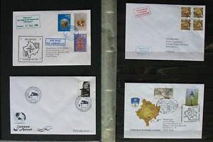 s1537) Kosovo FDC Sammlung 2000 - Sept 2009 + div Belege - mit Zd-Bogen 2006