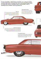 1963 Ford Falcon Sprint NHRA Super Gas Drag Race Car Article - Must See !!