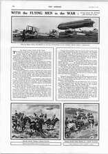 1914 German Lancers Chasing French Dirigible British Airships Biplanes