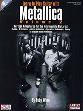 Learn to Play Guitar Metallica VOL 2 Tutor TAB Book CD