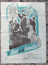 AFFICHE CINEMA vintage : L AMI DE LA FAMILLE / 1957 / JACK PINOTEAU DARRY COWL