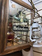 Vintage Heineken Beer Mirror.collectible.bar Decor.good Condition