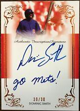 2013 Leaf Trinity Dominic Smith Inscription Auto Go Mets RC Rookie 30/30