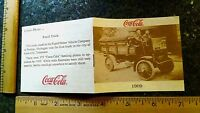 1909 Coca Cola Delivery Truck Rapid Motor Vehicle Co 12 pg Booklet Wow