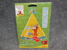 "Sesame Street Elmo Happy Birthday Hat Shape Foil Balloon 18"" Personalize NEW"