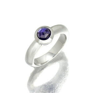 Tiffany & Co. 750Wg Amethyst White Gold Ring Made In France No.13 8.8G
