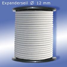 Expanderseil 20 m weiß Ø 12mm PES Gummiseil Seil Planenseil Anhänger PVC Plane