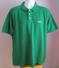 VTG Mens FILA Green Collared Shortsleeved Polo Shirt Size Extra Large (C36)