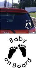 BABY ON BOARD pegatina del parabrisas EURO JDM COCHES DE Drift ADHESIVO VINILO Y