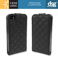 Genuine CASE LOGIC Protective Black Quilted Flip Case for Apple iPhone SE 5S 5