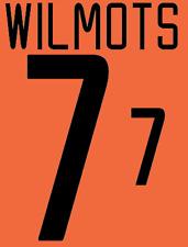 Belgium Wilmots Nameset 2002 Shirt Soccer Number Letter Heat Print Football H