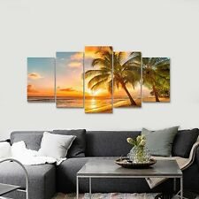 Picture Photo Print on Canvas Wall Art Home Decor Landscape Sea Sunset Framed