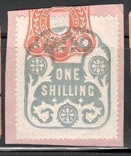 La Reina Victoria - 1s Azul ingresos en papel - 1898 de junio