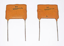 SILVER MICA CAPACITOR 5000pF - 2 PIECES - VINTAGE RS COMPONENTS