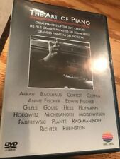 Art of Piano Great Pianists Backhaus Arrau Hess Hoffmann Horowitz & More Dvd
