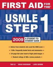 USMLE Step 1 2009 by Vikas Bhushan and Tao Le (2008, Paperback, Student Edition…