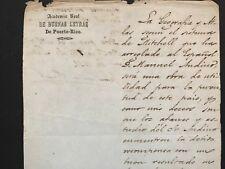 Puerto Rico 1851 Academia Real de Buenas Letras, signed Gov. Juan de la Pezuela