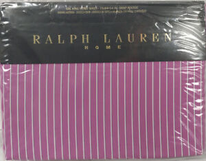 NEW $400 Polo Ralph Lauren Tarquin Sheet!  Cal King  Purple  600  Made in France