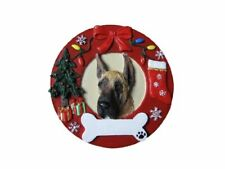 Great Dane Christmas Ornament Wreath Shaped Easily Personalized