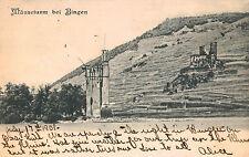 Bingen,Germany,Mauseturm, Rhine River,Rhineland-Palatinat e,Used,1903