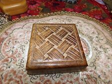 vtg wooden hand carved trinket jewelry box gypsy stash box decorative art decor