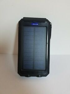 Solar Power Bank LED Dual USB Backup Battery Charger For Mobile Phone