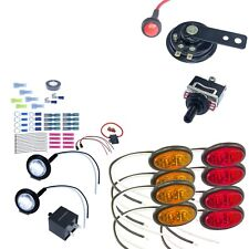 DIY ATV UTV Turn Signal Street Legal OVAL LED Light Kit Horn Polaris Ranger RZR