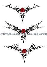 "US SELLER,  tribal rose tramp stamp 8.25"" large arm temporary tattoo"