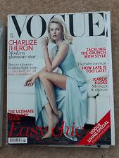 British Vogue May 2012 12 Charlize Theron Karlie Kloss Fashion Magazine + Supp