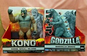 """Playmates Godzilla 12"""" 2004 Figure Final Wars And Kong Skull Island 12"""""""