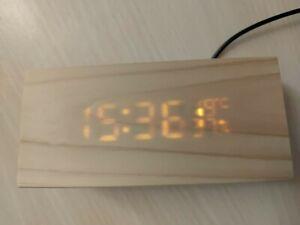 [Good] Handmade Wood Digital Clock Battery/Usb Powered manufactured in Taiwan