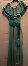 Vtg Handmade Pioneer Prairie Dress & Purse Reenactment Costume Sz M/L Chest 42