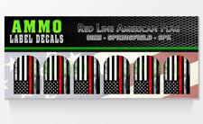 SPRINGFIELD XD / XDM 9MM Red Line American Flag Firefighter Mag Base Decal 6 PK