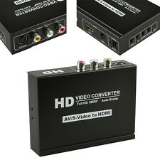 New AV S-Video Video Audio to HDMI Converter Upscale Adapter For HD DVD PS3