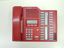 RARE RED Meridian M7324/NT8B40 LCD Office Phone + Handset