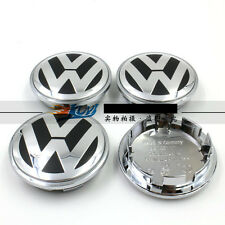 NEW SET OF 4 CENTER WHEEL COVER CAPS LOGO FOR  VW VOLKSWAGEN CHROME 3B7601171