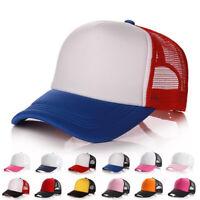 3Colors Hat Men Women Cotton Baseball Cap Mesh Hat Adjustable Outdoor Sport NEW