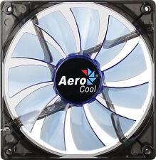 AeroCool 14cm Lightning Series Transparent LED Fan - Blue