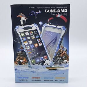 R-Just GUNDAM Metal Shockproof Bumper Armor Case For iPhone 6 Plus Silver Black