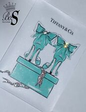 """Sparkle Glitter canvas picture """"Tiffany & Co"""" any size! Free Delivery."""