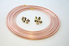 "25ft Brake Copper Pipe Tube 3/16"" OD x 0.131"" ID + 5 short male nut + 5 female n"