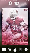 2019 DIGITAL Topps Huddle David Johnson Platinum Performance