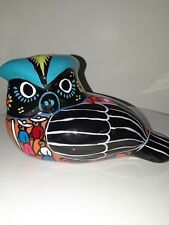 Disney Theme Parks Mexican Pottery Hand Painted Folk Art Owl