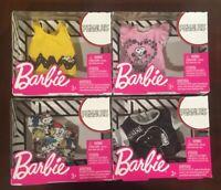 Barbie Mattel Peanuts Snoopy Fashion Clothes Tops Peanuts Gang Lot Of 4 Tops NEW