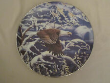 BALD EAGLE collector plate FLIGHT OF A GENERATION Diana Casey CAMOUFLAGE