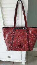 New ListingNwt Patricia Nash Mediterranean Floral Tooling Tote Purse, Red