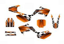 CRF150R graphics deco kit for Honda 2007 - 2015 #2500-Orange Free Custom Service
